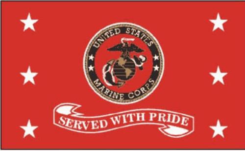 Marine Served With Pride Flag