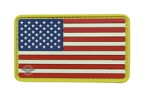 Morale Pvc Patch - U.S. FLAG Red, White, Blue and Yellow