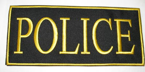 Police 2-Piece Law Enforcement Patch Gold
