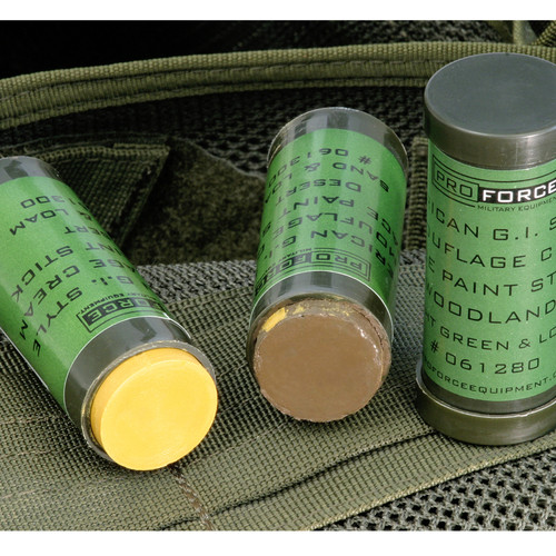 ProForce American G.I. Style Camouflage Cream Face Paint Stick DESERT: SAND & LOAM