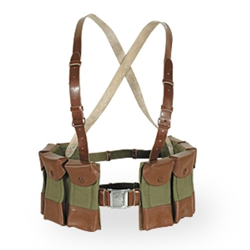 Vietnam Era Chest Rig with Leather Trim- Used Condition