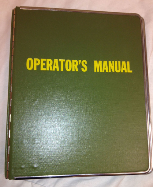 Military Issue Operator's Manual Binder 3 Ring OD GREEN