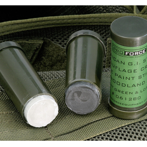 ProForce American G.I. Style Camouflage Cream Face Paint Stick ACU: LIGHT & DARK GREY
