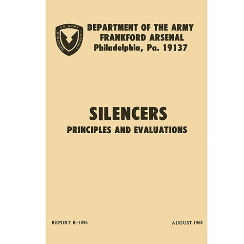 Silencers Principles and Evaluations Military Manual R-1896