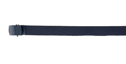 BLACK NYLON WEB BELT W/BLACK BUCKLE