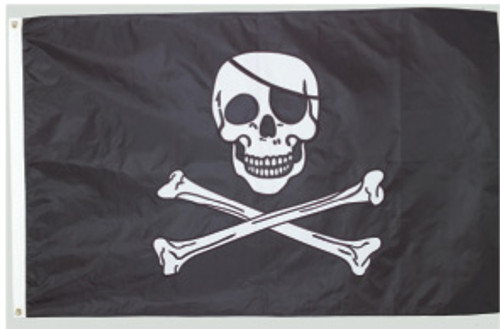 JOLLY ROGER 3'x5' Embroidered Flag