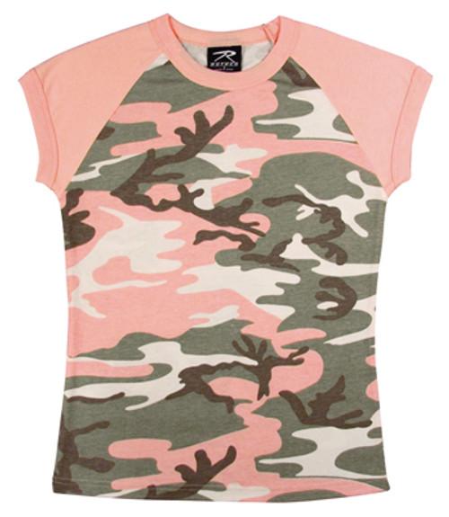 Women's Subdued Pink Camo Shirt