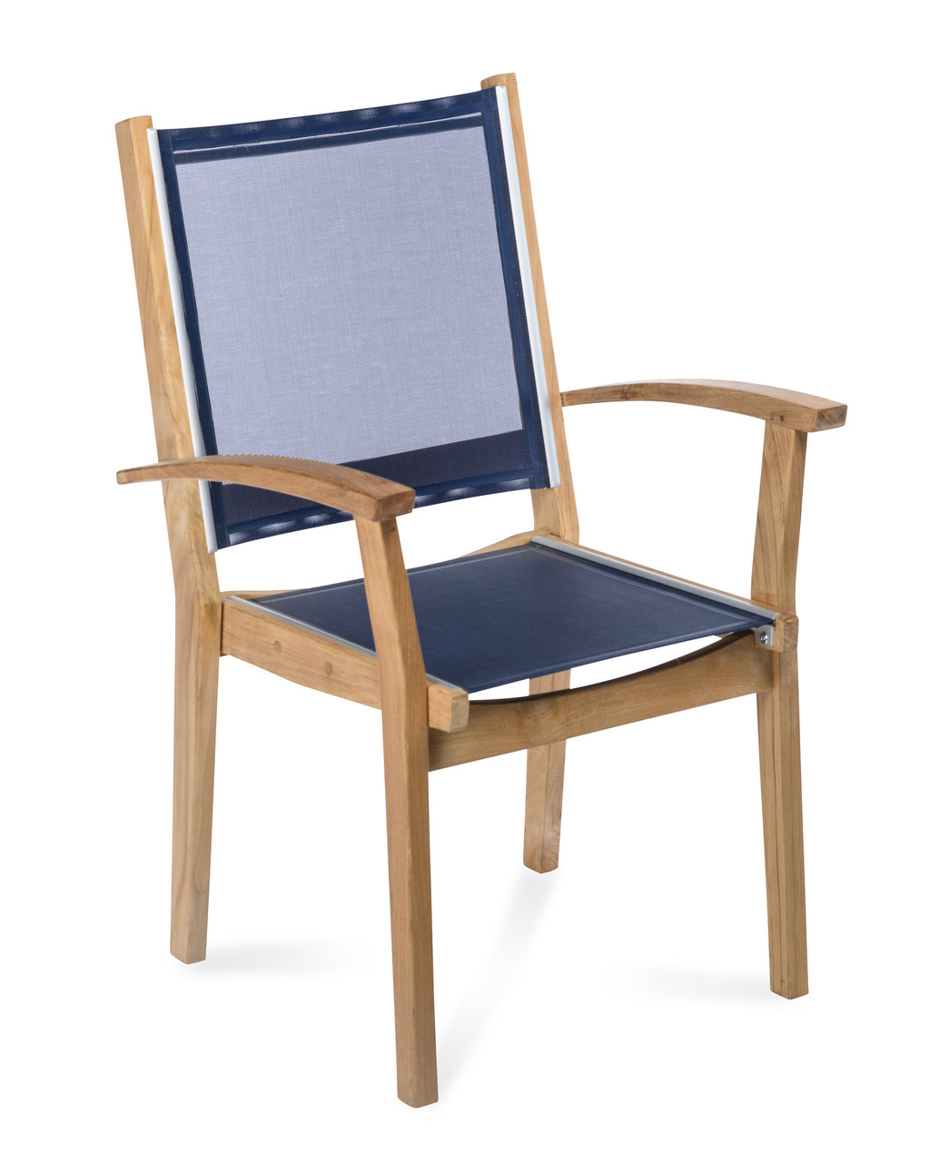 co9 design bayhead sling stacking armchair navy