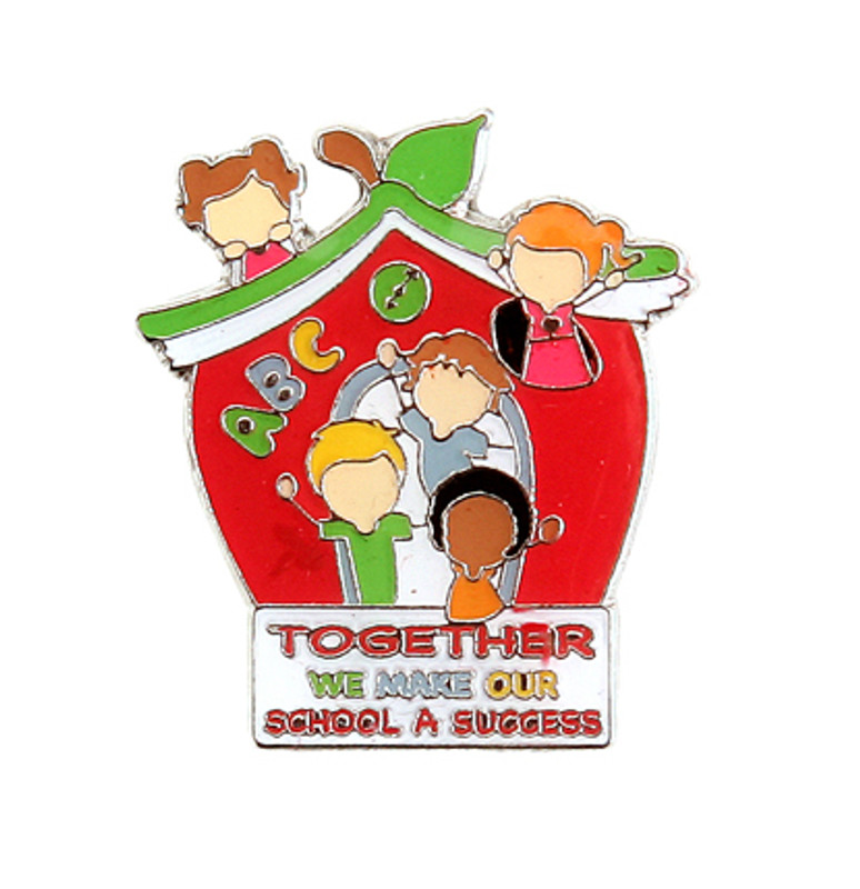 Together We Make Our School A Success (schoolhouse) Lapel Pin