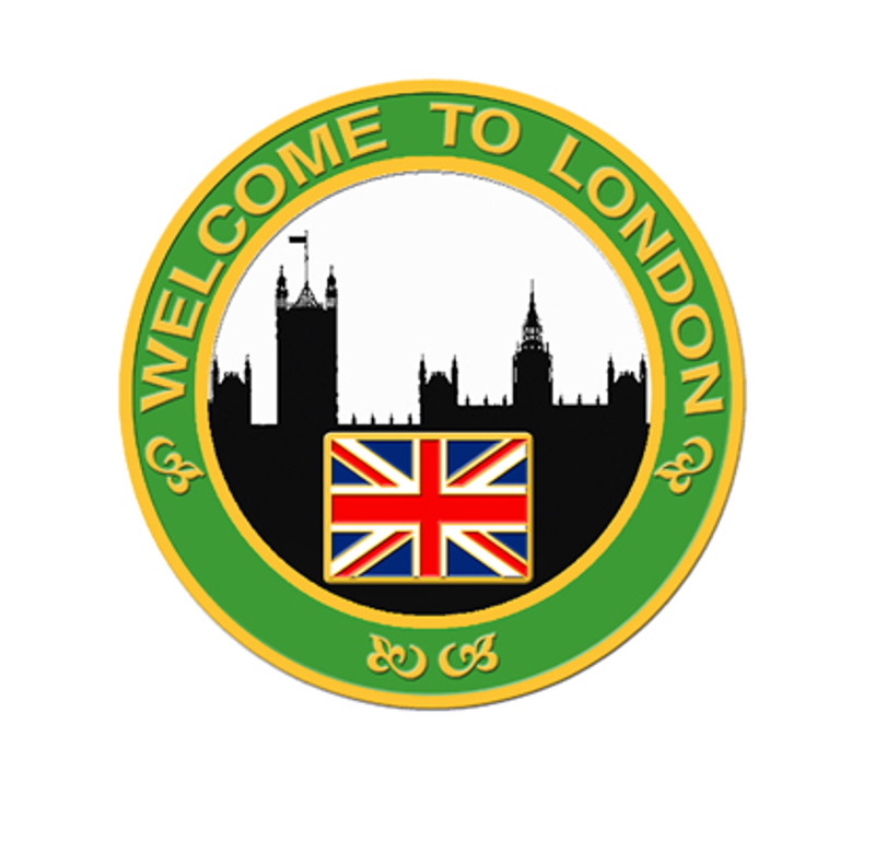 2012 London Skyline Lapel Pin - Green