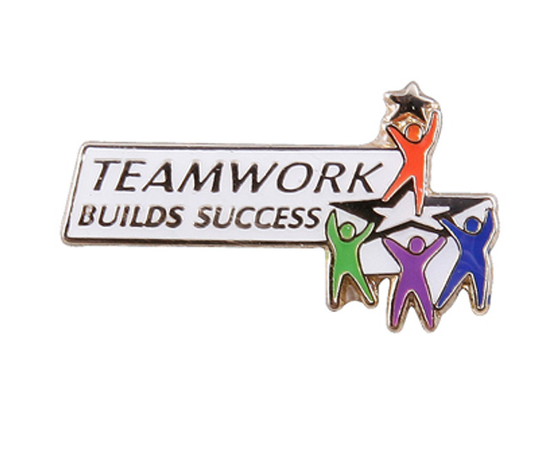 Teamwork Builds Success Lapel Pin