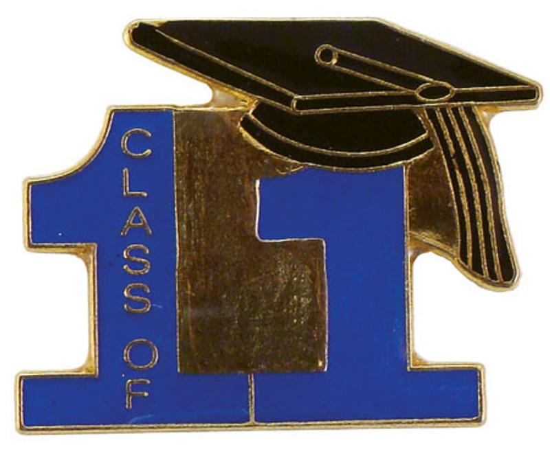 Class of 11' Blue Lapel Pin