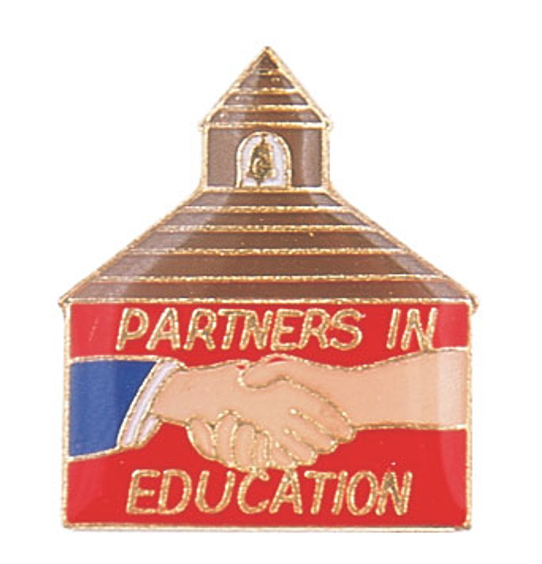 Partners In Education (shcoolhouse) Lapel Pin