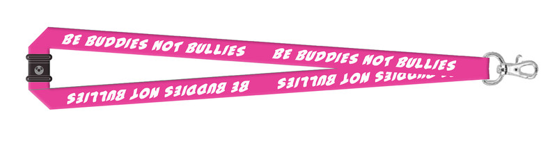 Be Buddies not Bullies Lanyard - Pink