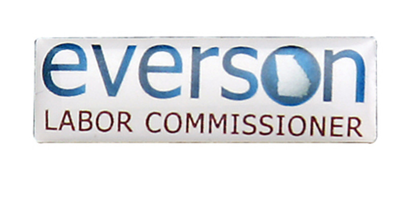Everson Labor Commissioner Lapel Pin