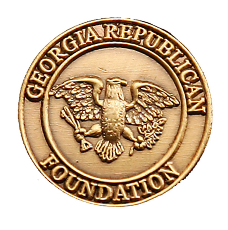 Georgia Republican Foundation (3D cast) Lapel Pin