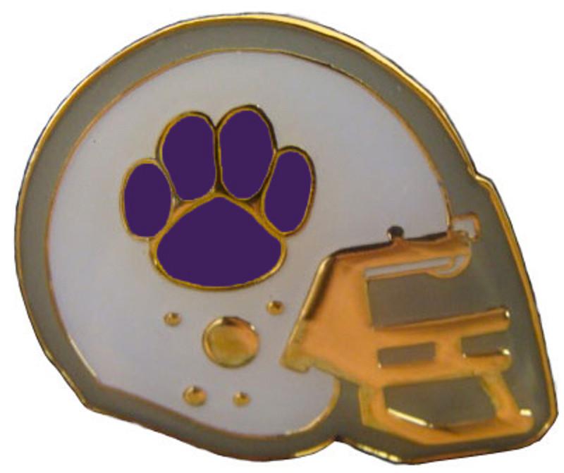 Football Helmet (Purple) Lapel Pin