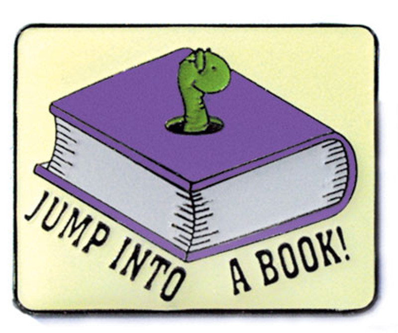 Jump into a Book Lapel Pin