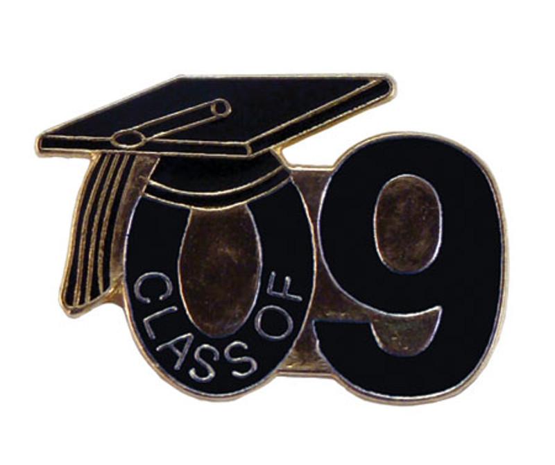 Class of 09' Black Lapel Pin