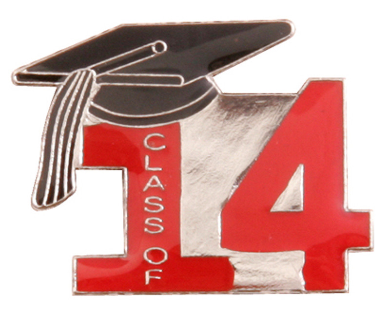 Class of 14' Red Lapel Pin
