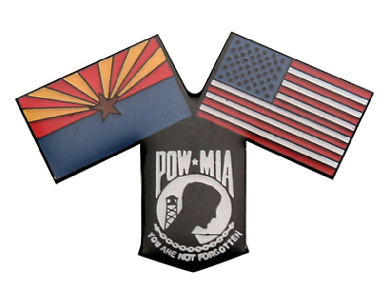 Arizona, US, POW-MIA Flags Lapel Pin