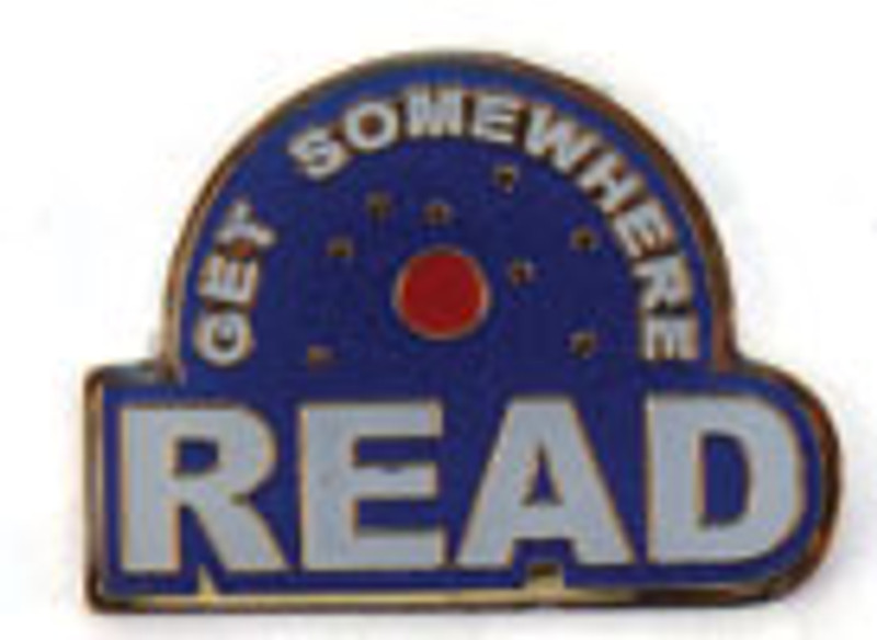 Get Somewhere Read Lapel Pin