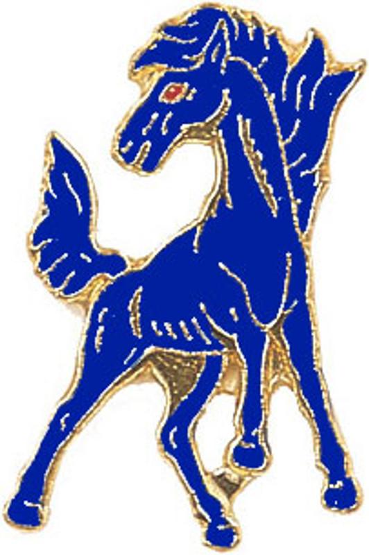 Mustang (Blue) Lapel Pin