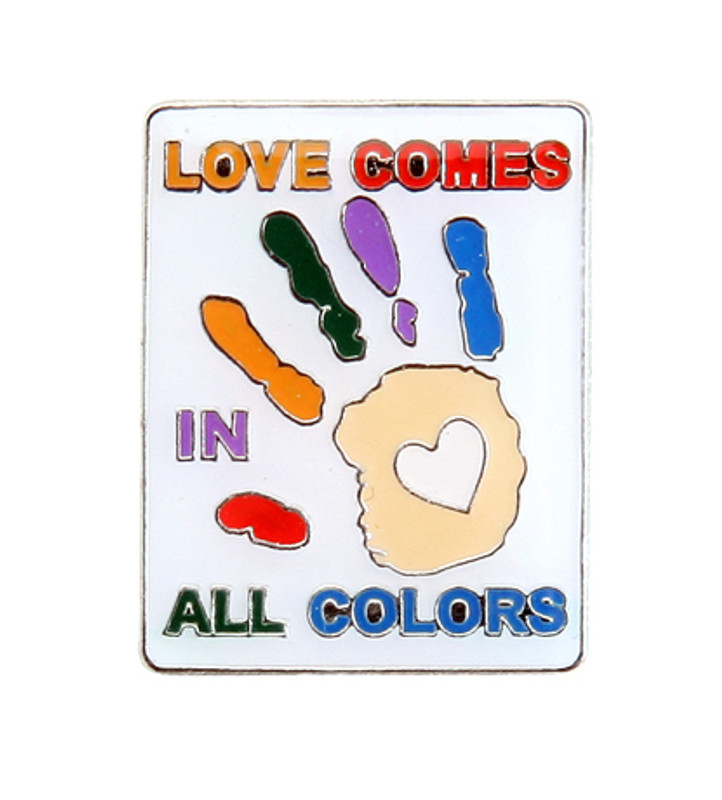 Love Comes In All Colors (hands) Lapel Pin