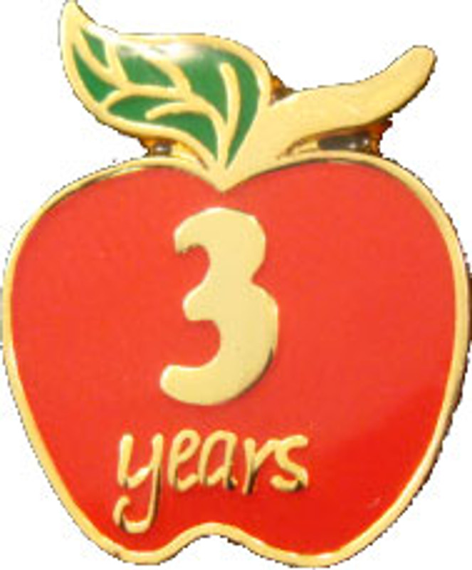 YOS (3) Apple Lapel Pin