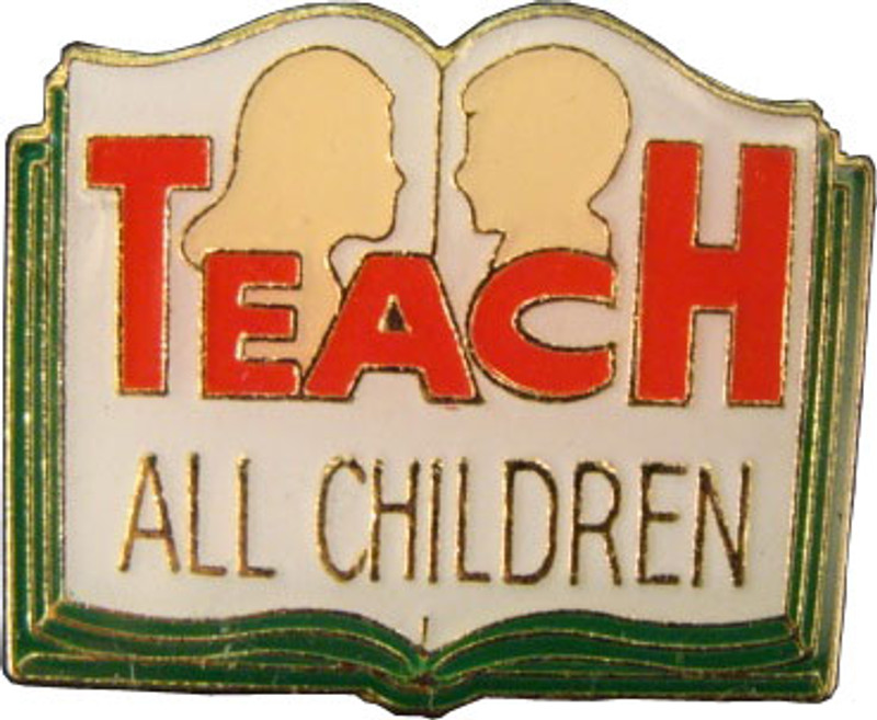 Teach All Children Lapel Pin