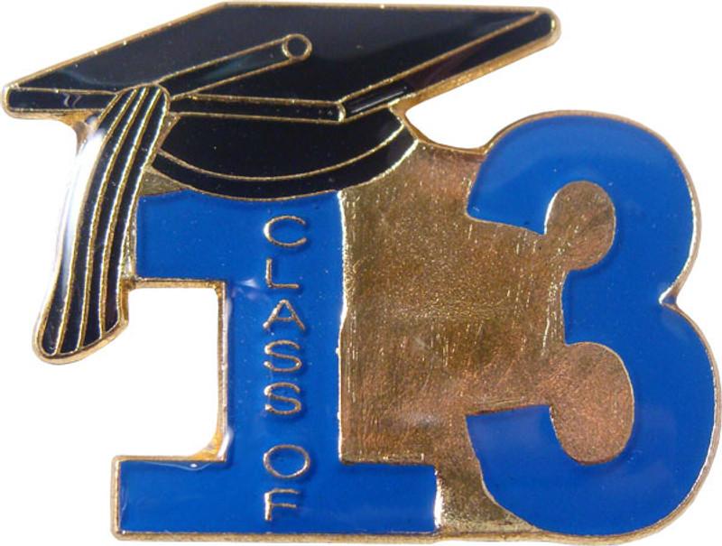 Class of 13' Blue Lapel Pin