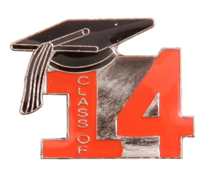 Class of 14' Orange Lapel Pin