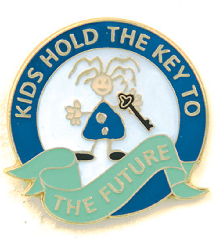 Kids Hold The Key To The Future Lapel Pin