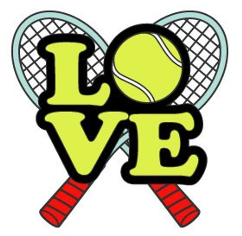 Love Tennis Racquets Lapel Pin