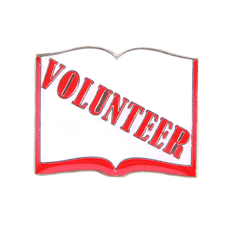 Volunteer Book Lapel Pin