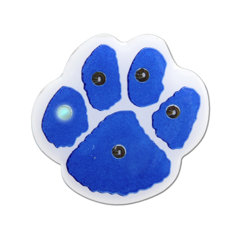 "PAW-LIGHT 1""  (Blue/White) Lapel Pin"