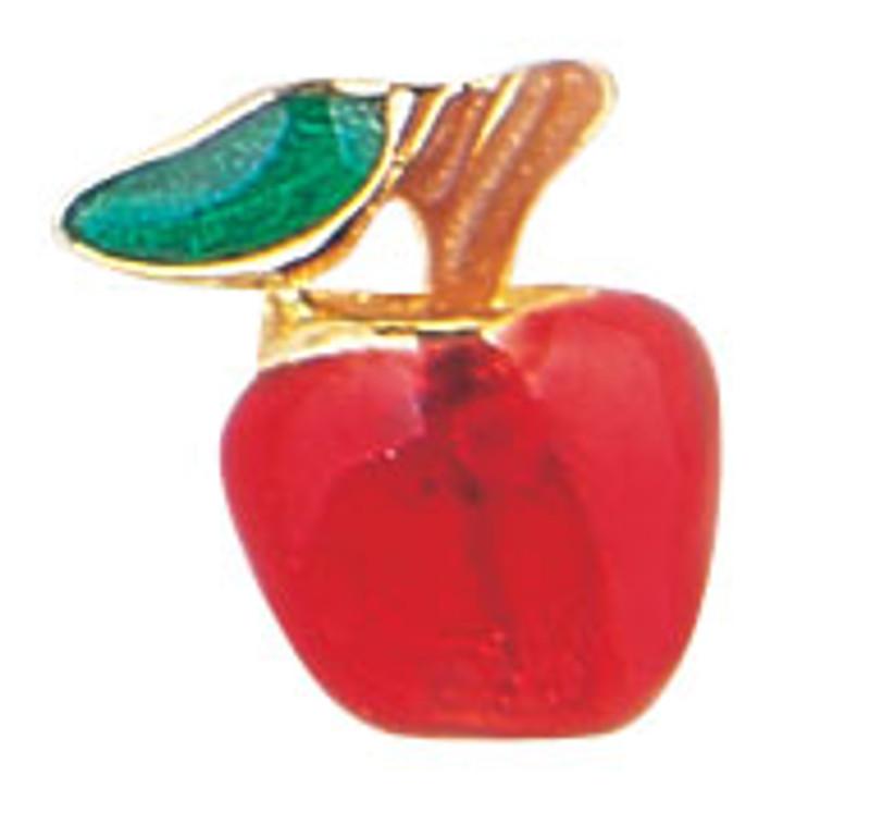 Golden Apple Red Lapel Pin