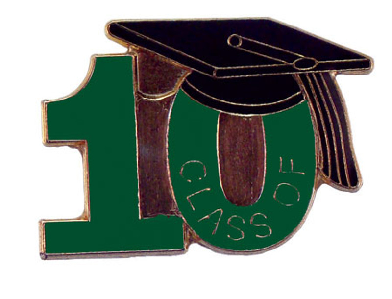 Class of 10' Green Lapel Pin