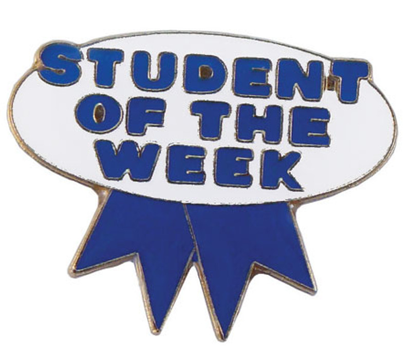 Student of the Week (blue/white) Lapel Pin