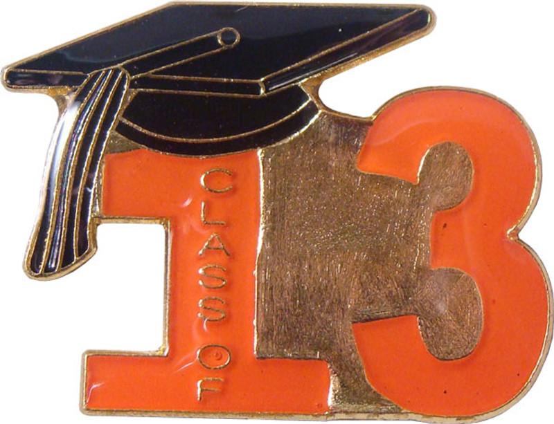 Class of 13' Orange Lapel Pin