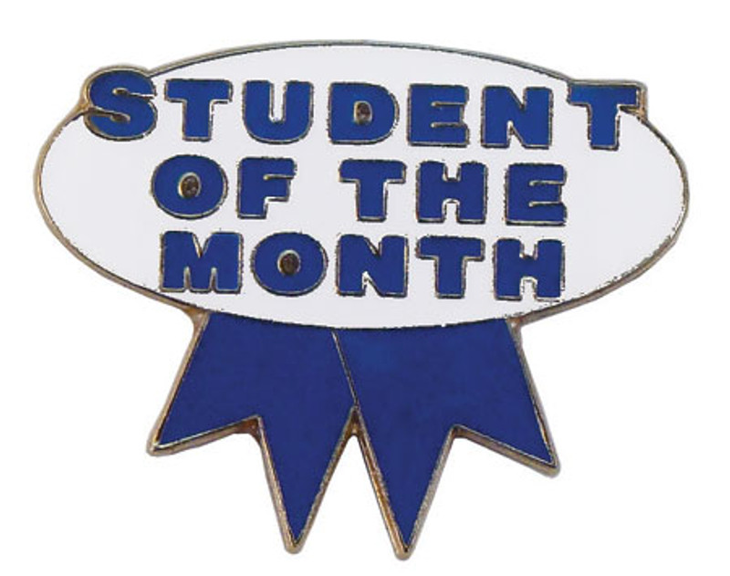 Student of the Month (blue/white) Lapel Pin