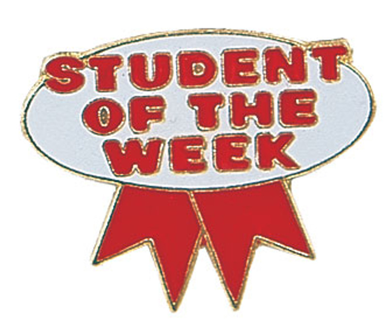 Student of the Week (red/white) Lapel Pin