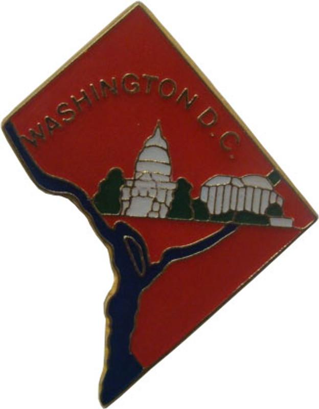 Washington DC State Lapel Pin
