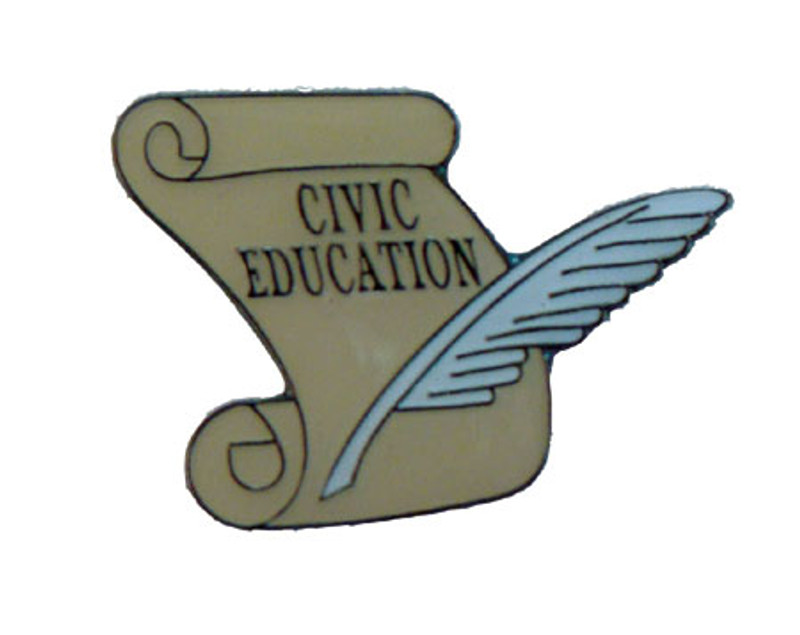 Civic Education scroll Lapel Pin