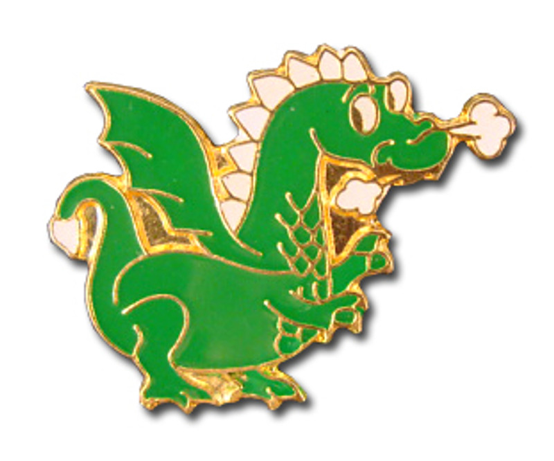 Dragon (Green) Lapel Pin