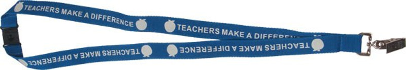 TEACHERS MAKE A DIFFERENCE LANYARD TURQUOISE