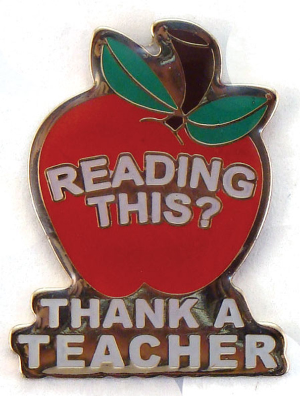 Reading This? Thank A Teacher Lapel Pin