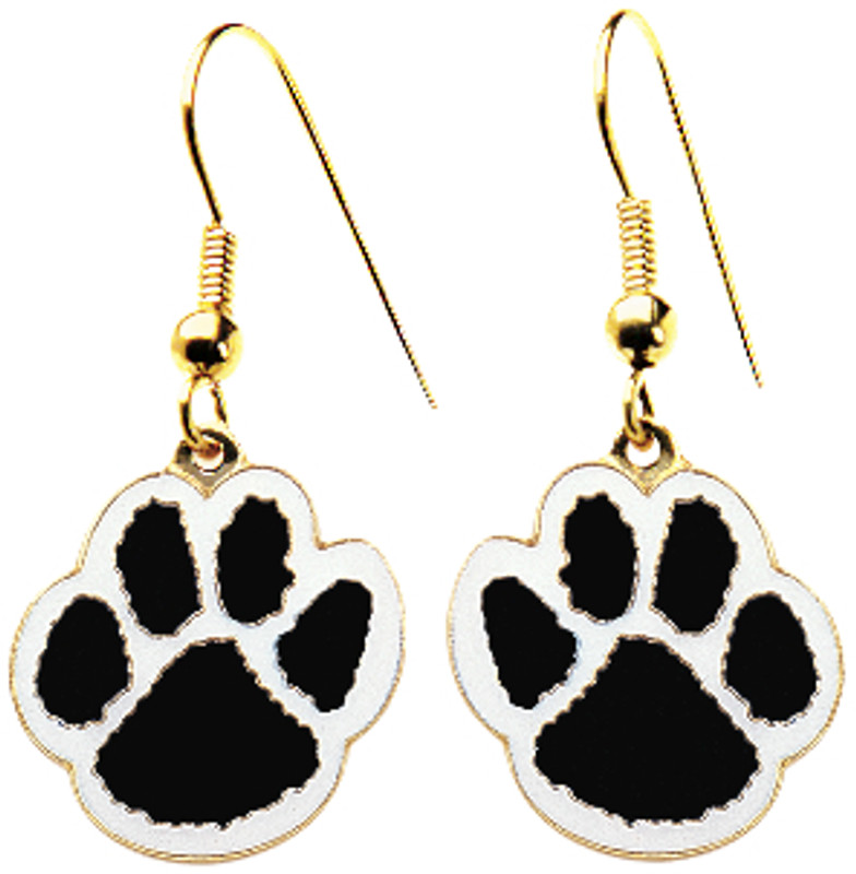 Paw Earrings Black/White