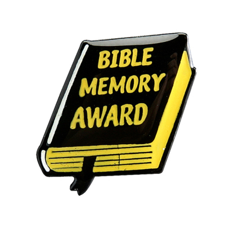Bible Memory Award Lapel Pin
