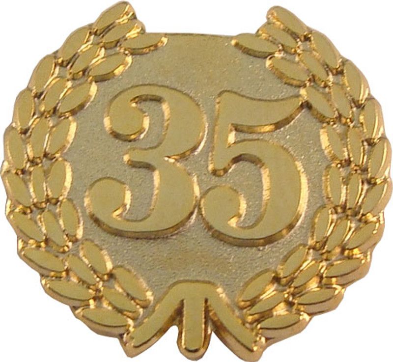 YEARS OF SERVICE 35 LAPEL PIN